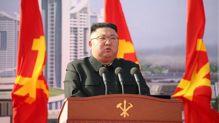 Le dirigeant nord-coréen Kim Jong Un assiste à une cérémonie à Pyongyang, le 24 mars 2021.