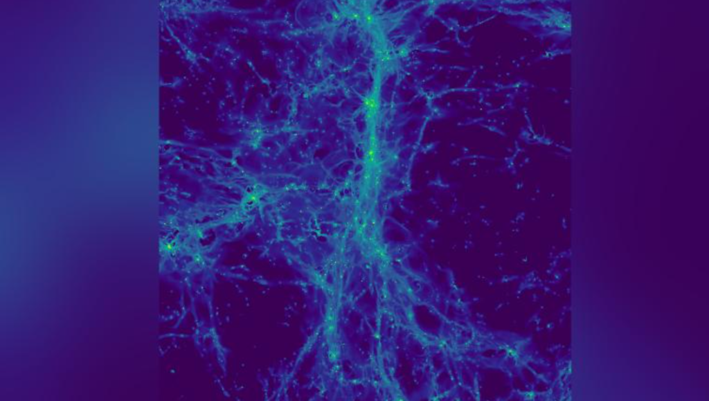 "Look at her ""Cosmic Web"" Where galaxies form"