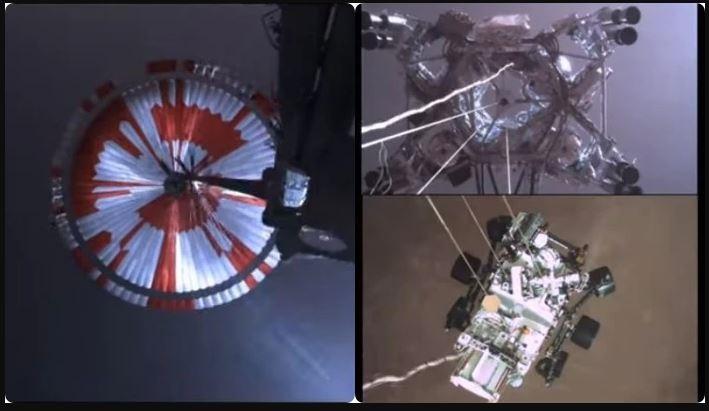 Video release of the spacecraft landing on Mars