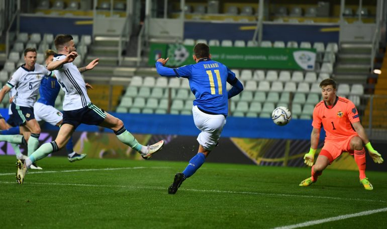 Italy begin to win again: Berardi and Immobile beat Northern Ireland