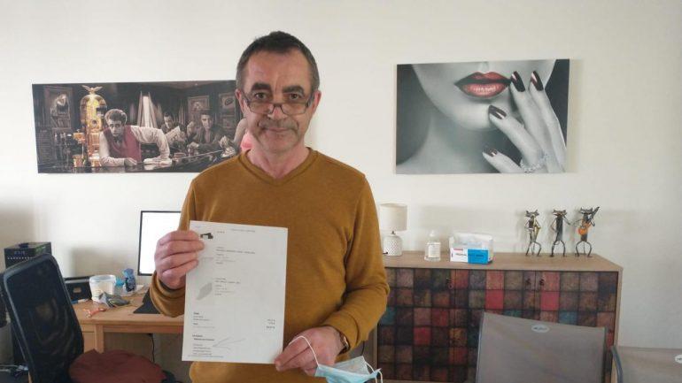 Giuseppe, bientôt 62 ans, a été victime d'une usurpation d'identité.