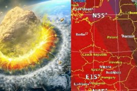 NASA Simulation: An asteroid lands on Earth - Poland in the area of destruction