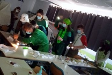 College students celebrated St. Patrick's Day