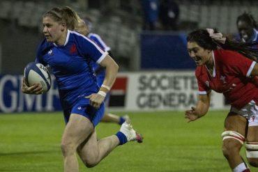 Emeline Gross, Ma Le Philopan and Alexandra Chambon face Ireland