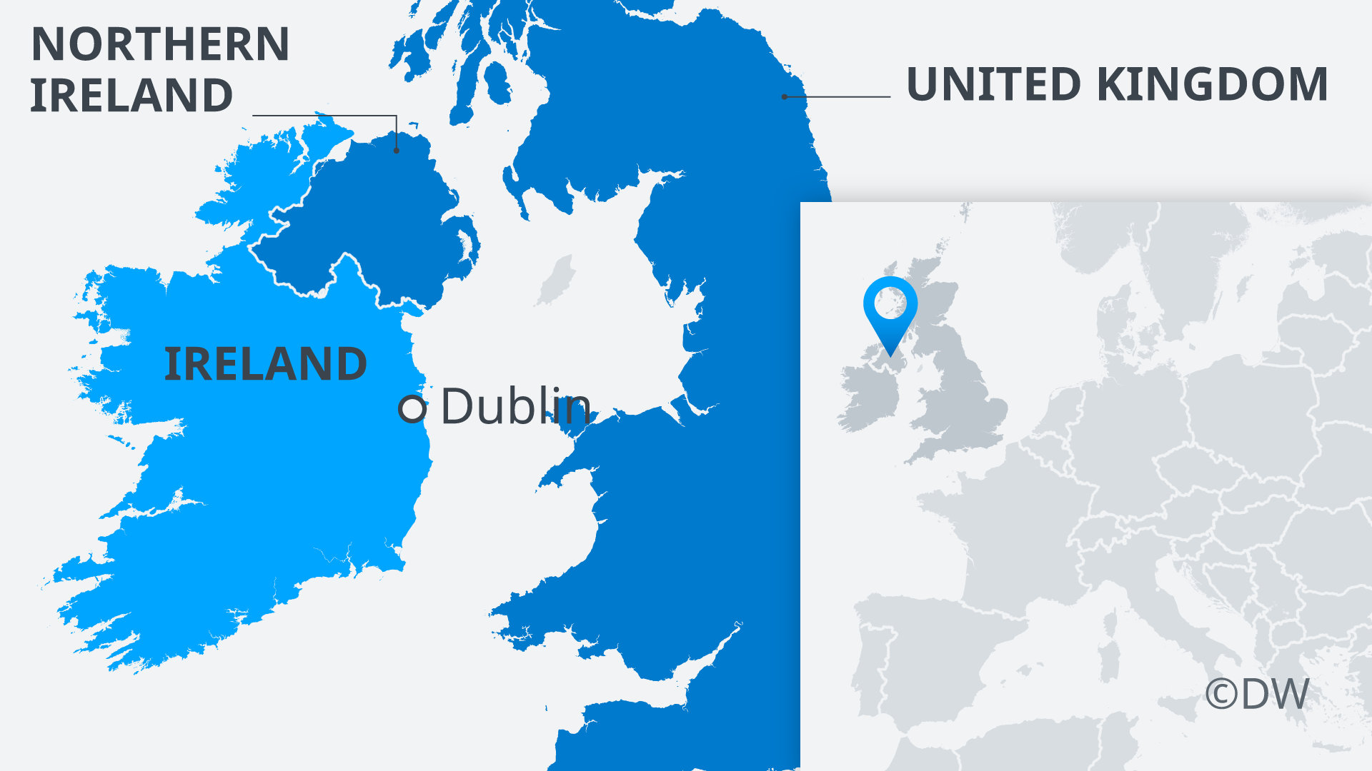 Map of Ireland and Northern Ireland