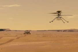 NASA helicopter launches propellers on the surface of Mars