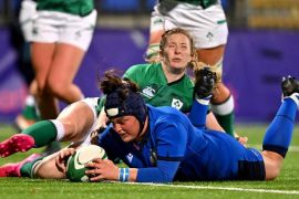 Rugby, Six Nations Women, Bottoni Italy started