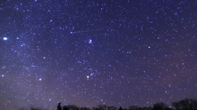 Sky view: The peak of the Liridi meteorite