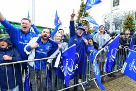 Fans du Leinster. Malheureusement, aucun supporter ni journaliste irlandais ne suivra la demi-finale inédite entre La Rochelle et le Leinster en champions cup de rugby.