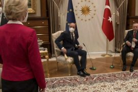 """Turkey has accused the European Union of being a """"sofagate"""""""
