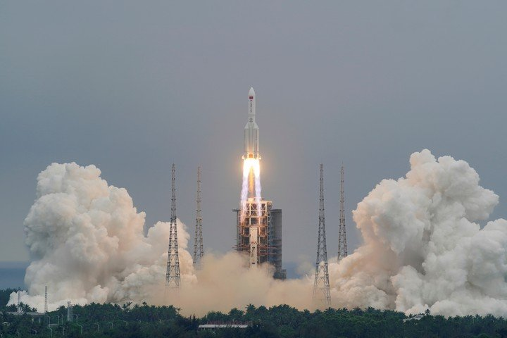 The Long March-5BY2 rocket launched by China went out of control and orbited the planet.  Reuters photo