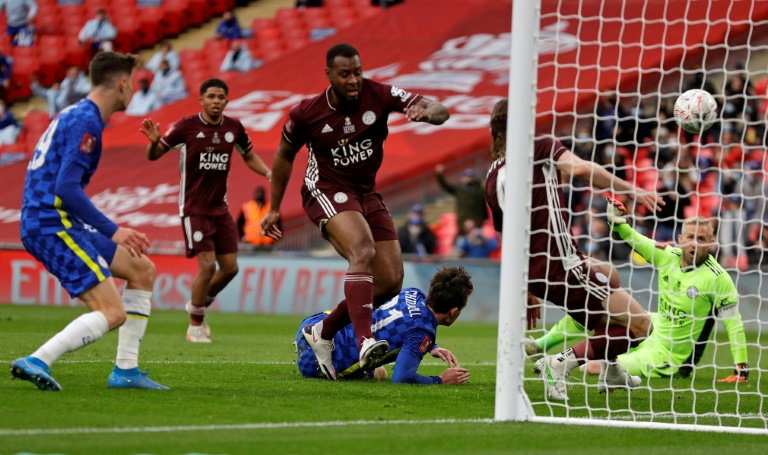 Leicester coach Northern Ireland's Brendon Rogers beat Chelsea 1-0 in the FA Cup Final on May 15, 2021 at Wembley Stadium in London.