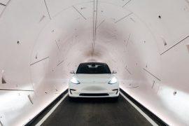 Elon Musk launches tunnels near Las Vegas, where Tesla already reaches speeds of 185 kilometers per hour