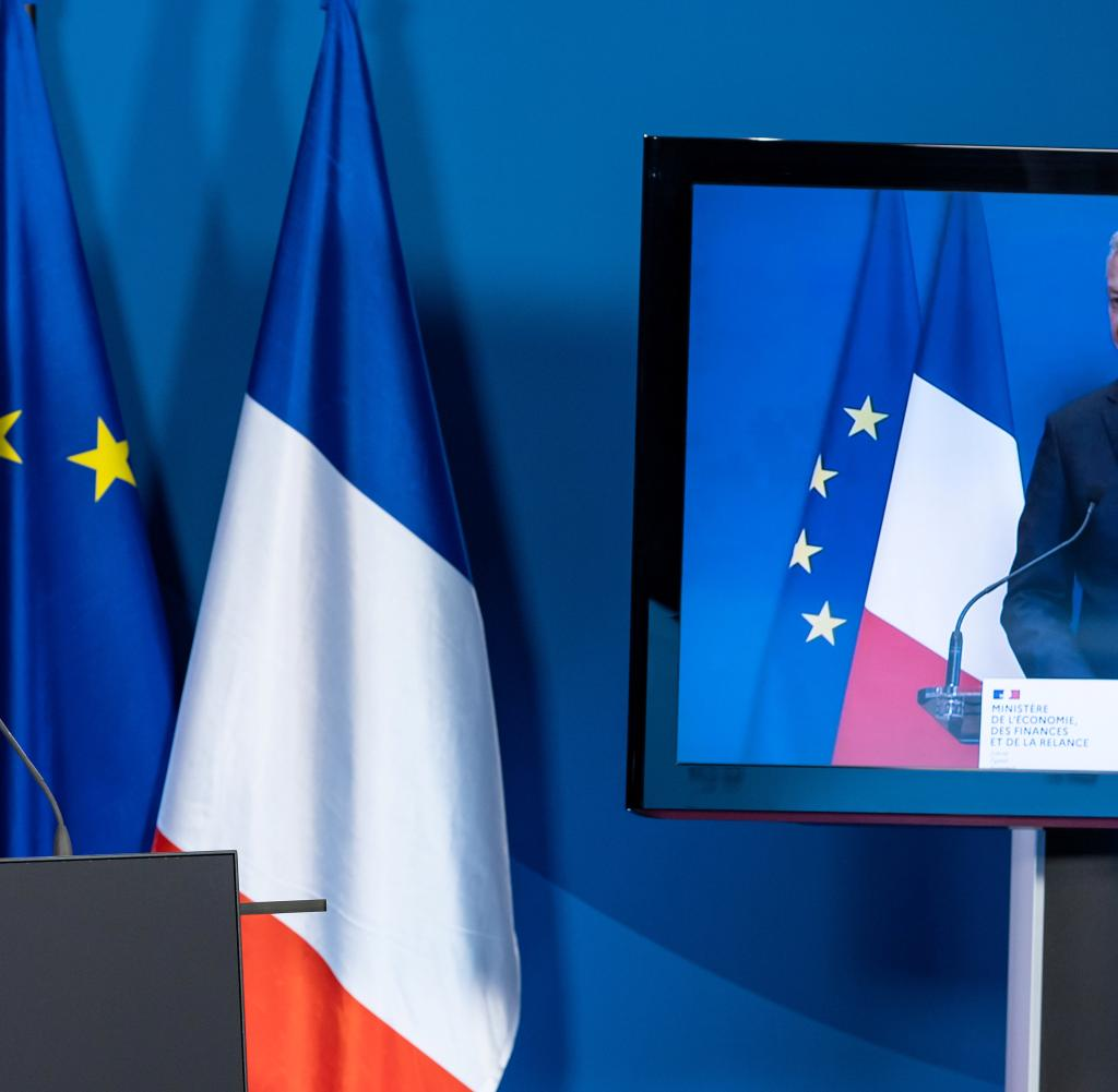 Press conference of the Ministers of Finance of Germany and France