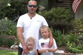 A 7-year-old boy rescues his father and sister after swimming for an hour to help