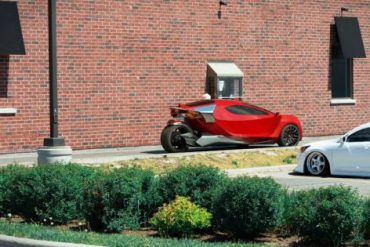 Bitcoin and dogcoin are mined while this electric car is parked