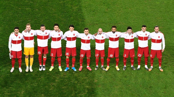 Turkey's national team on October 7, 2020, before the friendly against Germany.  (Source: Imago Images / Uwe Craft)