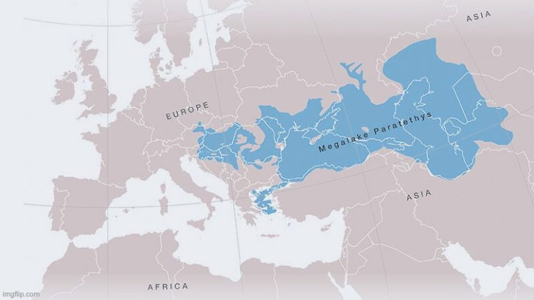 mer de Paratéthys lac