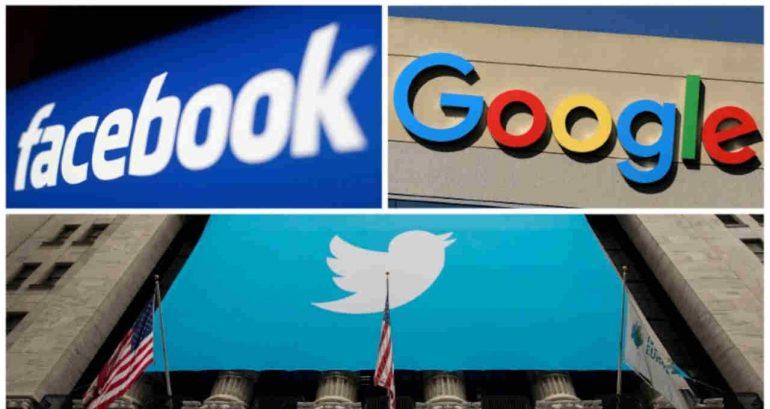 Facebook, Google, Twitter