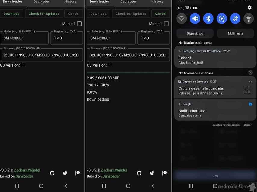 Samsung Firmware Downloader Descargas