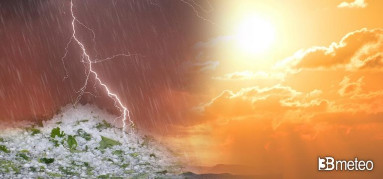 Climate Northern Italy - Not only the African hotspot, but also the Sudanese violent thunderstorms and hail.
