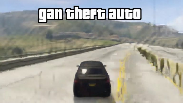 """An AI appears that reproduces the """"Grand Theft Auto V"""" without the game engine.  Reconstructs reflections and shadows, but has two police cars 