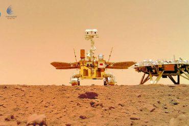 """Il primo selfie """"spaziale"""" arriva da Marte: la foto del rover cinese"""