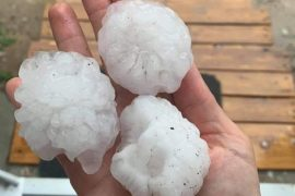 A storm and hail from the heat - within a few hours the temperature dropped drastically