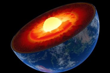 An unexplained phenomenon pushes the Earth's core out of equilibrium