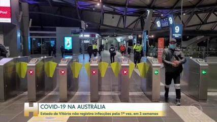 The state of Victoria in Australia did not report any cases of Kovid through a local broadcast this Friday.