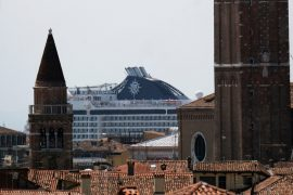 Cruises return to Venice without travel for more than 1 year due to pandemic restrictions  The world