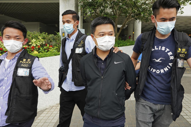 Ryan Lowe, editor of the Apple Daily, was arrested by police in Hong Kong on June 17, 2021.