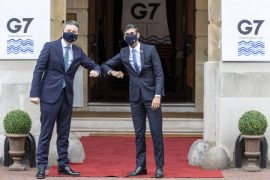 """G7 leaders say the 15% minimum corporate tax rate is a """"horizon"""" transaction"""