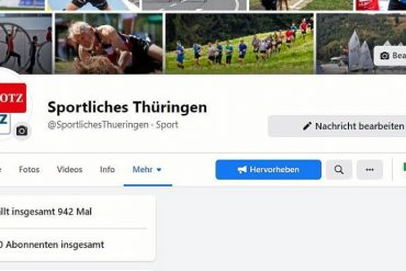 """""""Sporty Thuringia"""" now has 1000 subscribers on Facebook  Sports"""