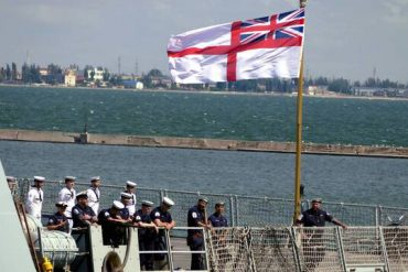 The Army says it fired warning shots at a British ship in the Black Sea