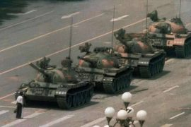 The photo of the protester in front of the Tiananmen tanks has disappeared from Bing