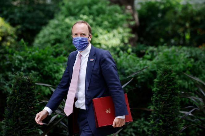 British Health Minister Matt Hancock on 15 June 2021 in London.
