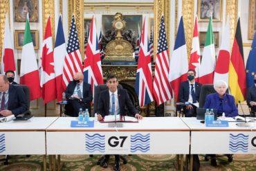 Les ministres des finances du G7 se sont réunis à Londres du 4 au 5 juin.
