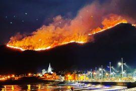 Northern Ireland: Fire destroys Mount Morne