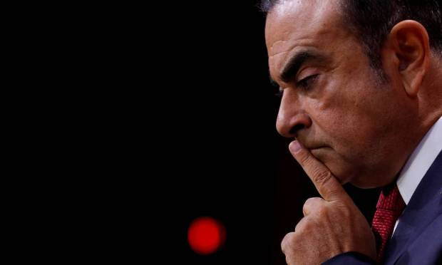 Ghosn explained the vehicle manufacturers' further integration with the Japanese Mitsubishi and French Renault.  He claims his arrest was a plot to prevent the alliance from deepening. Photo: Philip Voger / REUTERS