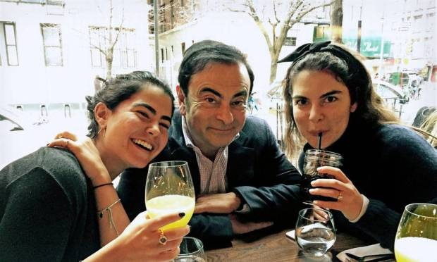 Carlos Ghosn with his daughters Nadine, left, and Caroline.  Executive Born in Brazil and holds French and Lebanese citizenship Photo: Personal Archive