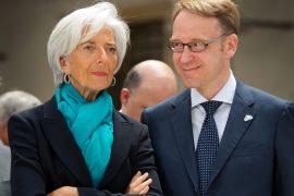 EZB-Präsidentin Christine Lagarde und Chef der deutschen Bundesbank, Jens Weidmann