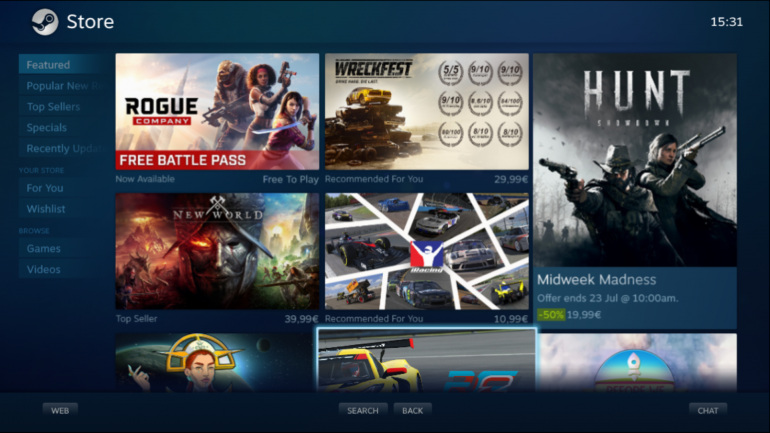 The Big Picture will be replaced with the Steam Deck interface