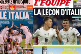 Italy's success in Italian and foreign newspapers: Barella on the team's front page