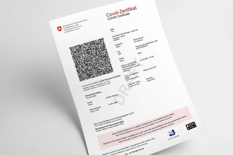 Vaccination certificate