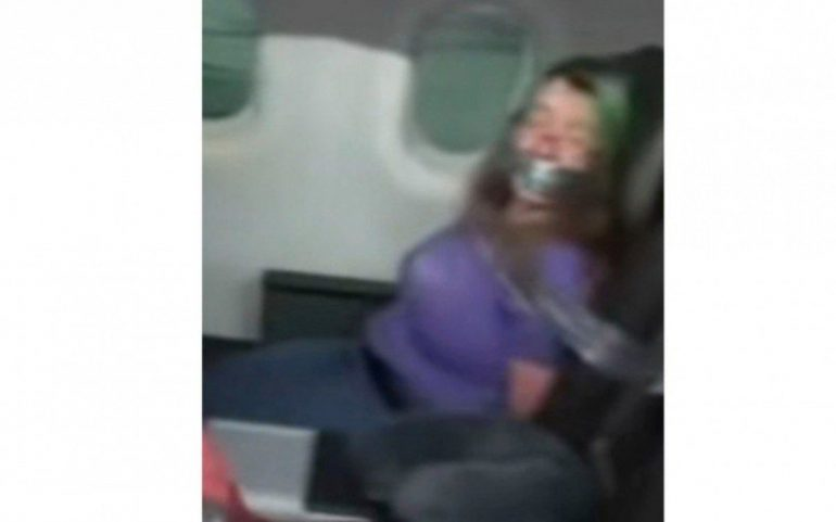 After trying to open the doors of the plane, the woman secured the plane seat with duct tape  The world and science