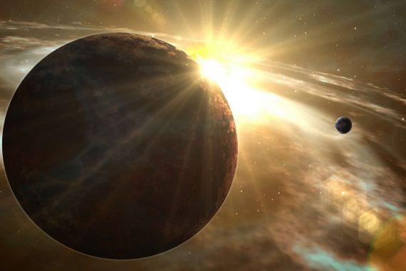 Représentation d'une exoplanète gravitant autour de son étoile. ©AdobeStock