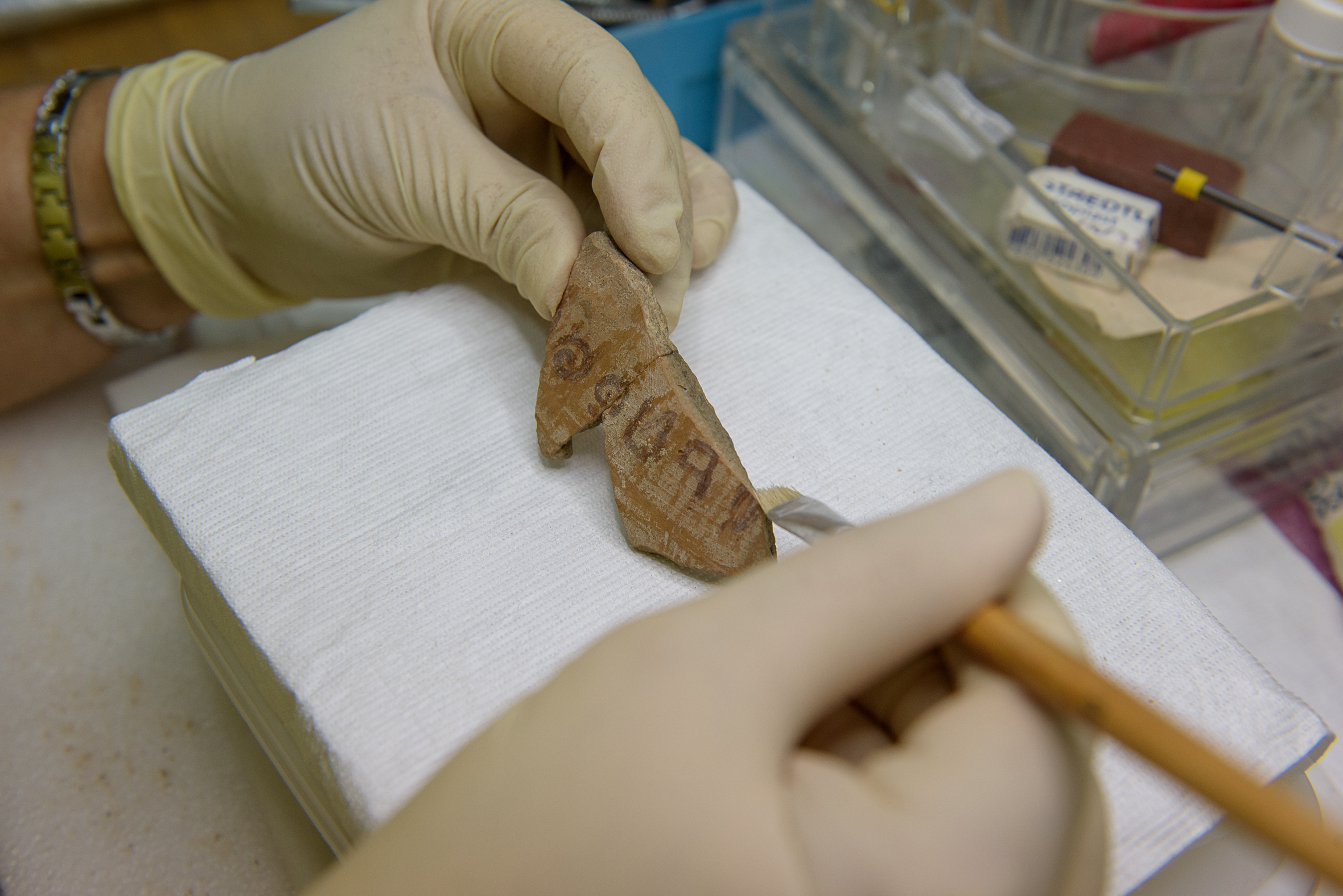 Address of Jerubel, Photo: Daphne Gazit, Israel Antiquities Authority.
