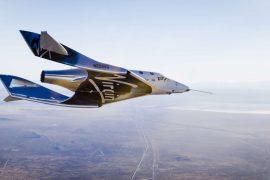 Vol-test du VSS Unity SpaceShipTwo au-dessus du Nouveau-Mexique. ©Virgin Galactic