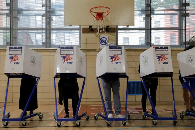 A primary polling station opened on June 22, 2021 in Brooklyn, New York.